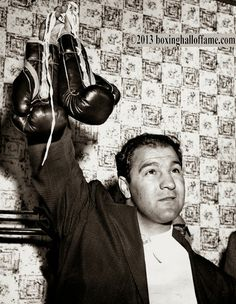 Rocky Retires ! This Day in Boxing History April 27, 1956 - Undefeated World Heavyweight Champion Rocky Marciano, 32, announces his retirement from the ring with a career log of 49-0 (43). www.boxinghalloffame.com facebook - boxing hall of fame las vegas