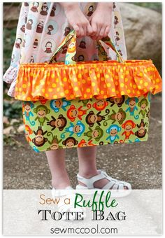 Sew a ruffle tote bag by sewmccool.com and Birdsong