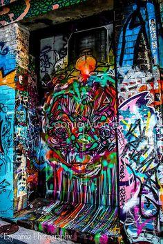 'The Doorway' by Leonie Morris 3d Street Art, Urban Street Art, Murals Street Art, Amazing Street Art, Mural Art, Wall Art, Graffiti Art, Banksy, City Grid