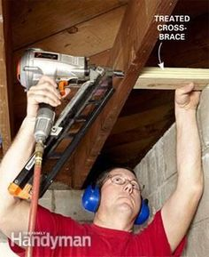 How to Finish a Basement Wall : The Family Handyman - March 09 2019 at Framing Basement Walls, Basement Ceiling Options, Basement Stairs, Basement Ideas, Ceiling Ideas, Basement Decorating, Basement Kitchen, Basement Designs, Decorating Ideas