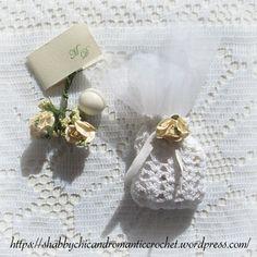 crochet wedding sachet