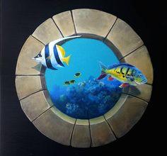 Sea World FishTrompe l'oeilMural Decor