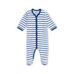 Unisex baby striped crawler
