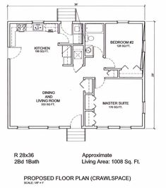 First Floor Plan of Bungalow Country Traditional House Plan 65052