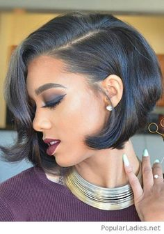 black-bob-makeup-and-necklace