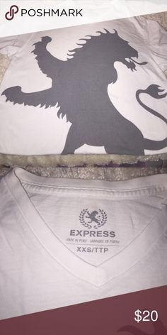 Men express cotton t-shirt. The cotton T-shirt pictured above is an express man cotton T. it also fits a boy size 14 or 16. It is a fitted T the size pictured is an XXS/TTP Express Shirts Tees - Short Sleeve