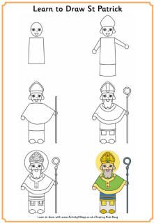 Learn how to draw Saint Patrick