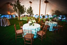 love this tented wedding