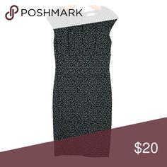 CALVIN KLEIN TEXTURE KNIT SHEATH DRESS Animal print cap sleeve Calvin Klein Collection Dresses Midi