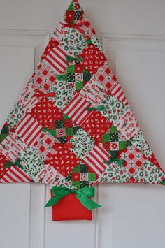 fabric Christmas tree wall decor