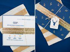 Woodland Navy and Gold Wedding Inspiration