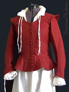American Duchess: 1610 Red Wool Jacket