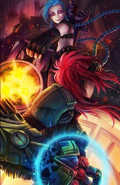 Jinx vs Vi by FalseDelusion.deviantart.com on @deviantART