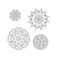 Delicate Doilies Set.  Available in Wood-Mount and Clear-Mount.