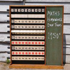 School Teaching Aid - Vintage Scientific Abacus from Homebarnshop.  #school #vintage #teaching