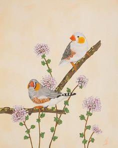 Little Bird Painting Bird Art Home Decor Small Print by SummerHour, $15.00