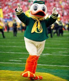 Oregon Ducks - mascot Mr. Duck aka Puddles