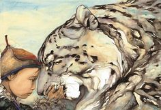 jackie morris artist -The Snow Leopard From the book The Snow LeopardTBC Dad Drawing, Painting & Drawing, Painting Styles, His Dark Materials, Morris, Comic, Children's Book Illustration, Book Illustrations, Digital Illustration