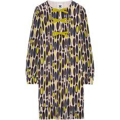 M Missoni Printed silk-crepe dress