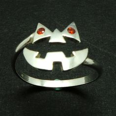 Silver Pumpkin Ring Unique Halloween Ring Jewelry