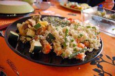 Cous-cous o cuscús con verduras y pollo
