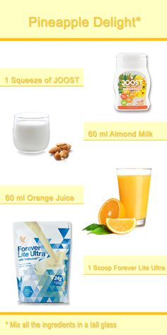 A delicious drink recipe made with one of our favorite NEW products JOOST™ Pineapple, Coconut & Ginger.