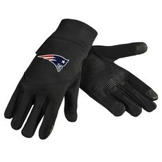 New England Patriots Team Logo Technology Touch Texting Gloves
