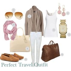 """""""Perfect Travel Outfit"""" by court1127 on Polyvore"""