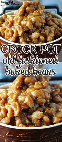 These Old Fashioned Crock Pot Baked Beans are a simple made-from-scratch recipe that is delicious!