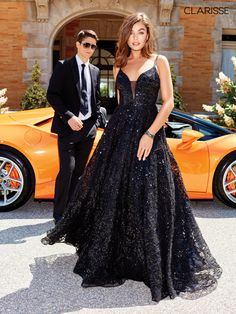 Clarisse 5042 is available. Authentic Clarisse gowns in stock. Find out more about this amazing 5042 by Clarisse dress. Black Sparkly Dress, Sparkly Prom Dresses, Black Wedding Dresses, Prom Party Dresses, Dress Party, Formal Dresses, Elegant Dresses, Homecoming Dresses, Beautiful Dresses