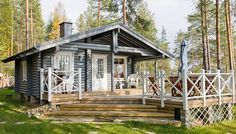 Finnish Sauna, Lakeside Cottage, Cottage Exterior, House In The Woods, Home Fashion, Curb Appeal, Tiny House, Home And Garden, Cabin