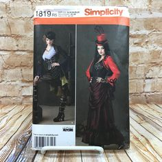 Simplicity 1819 Womens Plus Size Steampunk Skirt Corset Costume Cosplay Sz 14 22 #simplicity #Skirt