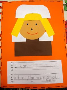 Pencils, Glue, & Tying Shoes: Pilgrim Writing