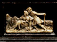 Escritorio-atril de taracea alemana. Augsburgo, S XVI Detalle. Desk-stand of German marquetry. Augsburg, S XVI Detail