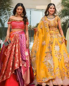 Indian Gowns Dresses, Indian Fashion Dresses, Dress Indian Style, Indian Designer Outfits, Indian Wear, Indian Bridal Lehenga, Indian Bridal Outfits, Indian Bridal Fashion, Sangeet Outfit