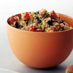 Black Bean and Tomato Quinoa - make sure you use coconut palm sugar and just use olive oil if you're in the 21-day phase...