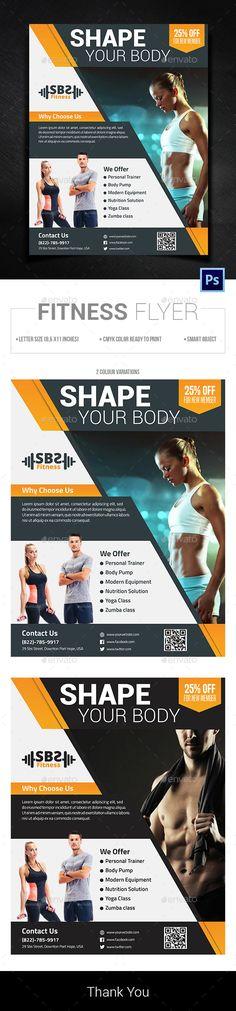 Fitness Flyer Template PSD. Download here: https://graphicriver.net/item/fitness-flyer/17026873?ref=ksioks