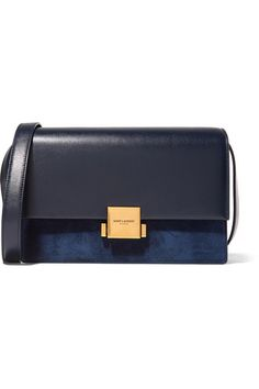 3eeb682ab82a Navy leather (Calf) and suede Clasp-fastening front flap Designer color:  Bleu