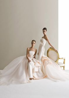 Characterized by luxurious fabrics, unconventional colors, unique detailing and silhouettes, the latest bridal collection of Antonio Riva wedding dresses is bold, creative and modern. Take a look and happy pinning! Wedding Attire, Wedding Gowns, Festa Party, Mod Wedding, Lace Wedding, Bridal Beauty, Allure Bridal, Beautiful Gowns, Bridal Collection