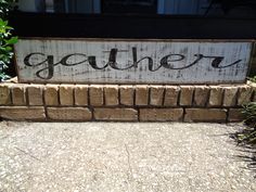 Gather Sign, Kitchen Signs, Fixer Upper Signs, Custom, Reclaimed Wood Signs, Farmhouse Signs, Rustic Signs, Wall Hangings, Wall Decor, by KPATTONDESIGNS on Etsy