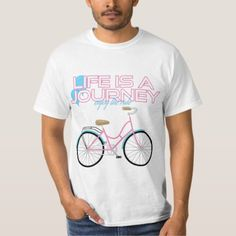 Bicycle-Life Is A Journey Enjoy The Ride T-Shirt   men biker, biker tattoos outlaw, diy biker #motorbike #bikers #bikelove, 4th of july party Cycling T Shirts, Biker Shirts, Shirt Men, Cycling Motivation, Cycling Quotes, Harley Davidson, Biker Baby, Triathlon Gear, Vintage Biker