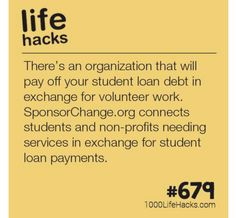 Student loans hack my life, 1000 life hacks, useful life hacks, simple life