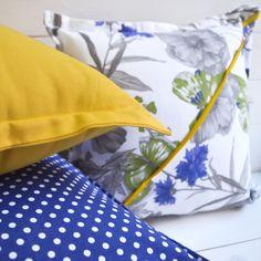 Set 3 cuscini primavera estate pois farfalle giallo di disirlab