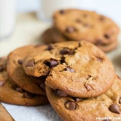 If you've tried a million chocolate chip cookie recipes out there trying to find the best one, look no further. Not only do these blow other cookies out of the water, but they are made entirely without flour! It's pretty amazing that you can make a crispy, chewy, tasty cookie without any flour, but you … Read More