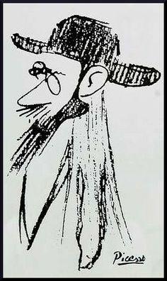 Caricatura de Valle-Inclán por Pablo Ruiz Picasso