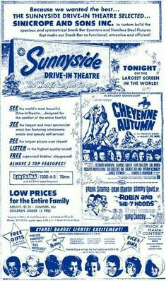 Sunnyside Drive-In, Fresno, CA - Grand opening ad May 1965 from the Bee Fresno County, Fresno California, Central California, Old Movies, Vintage Movies, Vintage Ads, San Joaquin Valley, Drive In Movie Theater, Vintage Newspaper