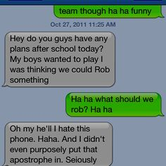 Funny text with one of my friends