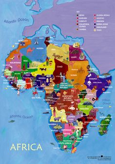 Discover Africa Notebooking Packet Review Friends Studying And - Map of africa for kids