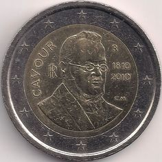 Motivseite: Münze-Europa-Südeuropa-Italien-Euro-2.00-2010-Cavour