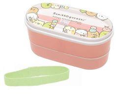 Sumikko Gurashi 2 Tire Bento Box w/ Chopsticks and Elastic Band (Friends) $14.00 http://thingsfromjapan.net/sumikko-gurashi-2-tire-bento-box-w-chopsticks-and-elastic-band-friends/ #sumikko gurashi #san x products #bento box #kawaii